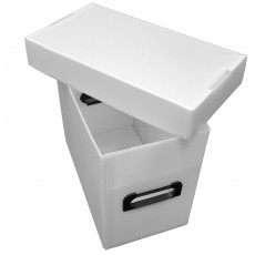 Plastic Magazine Box - White