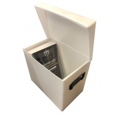 Plastic Flip Top Comic Storage Box - White