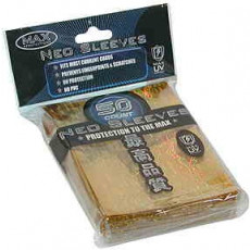 Max Gloss GOLD Neo Rave Sleeves - Standard Size - 50ct