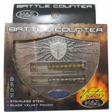 Abacus Style Victory Battle Counter with Velvet Pouch - WHITE