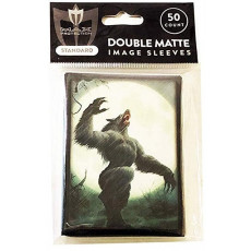 WEREWOLF - Full Moon -50ct DOUBLE MATTE Art Deck Protector Sleeves